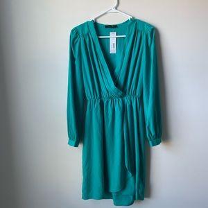 Honey Punch green dress